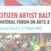 Citizen Artist Baltimore Mayoral Forum